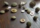 Buttons from an archeology exhibit in Annapolis. Newsline photo by Michelle Williams