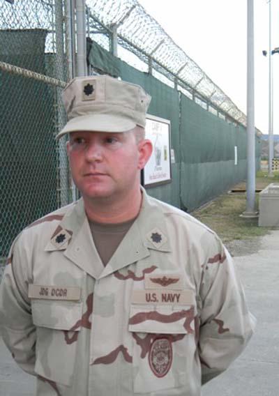 Navy Cmdr. John Rhodes
